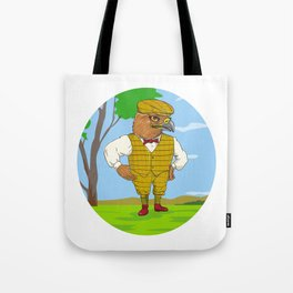 Hawk Outdoorsman Oval Drawing Tote Bag
