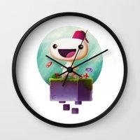selena gomez Wall Clocks featuring Gomez by Gazulo Marquez