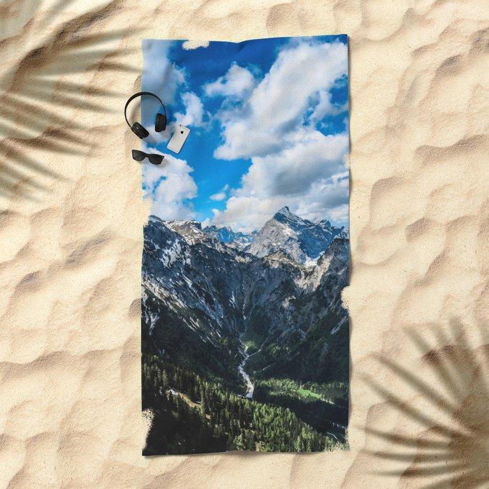 Overcoming Mountains Beach Towel