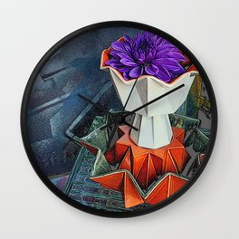Placed On A Pedestal Wall Clock