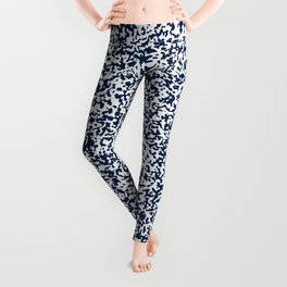 Tiny Spots - White and Oxford Blue Leggings