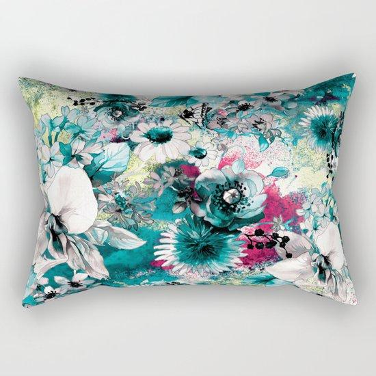 Blue Garden Rectangular Pillow