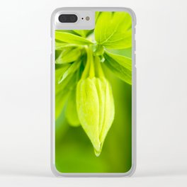 Golden Spur Columbine Clear iPhone Case