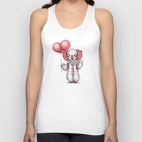 pennywise Tank Tops featuring They All Float Down Here by Ludwig Van Bacon