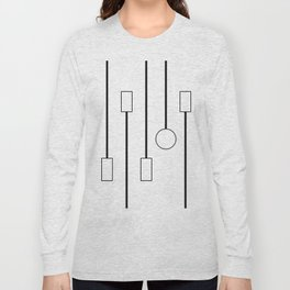 Minimalist Black and White Hanging Patterns Long Sleeve T-shirt