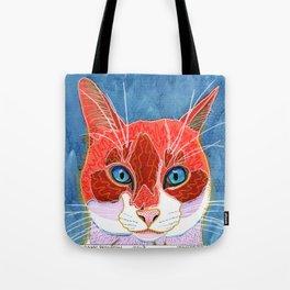 Lani - Pop Art Cat Portrait Tote Bag