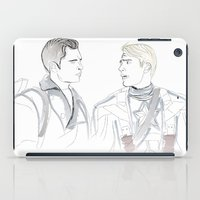 bucky barnes iPad Cases featuring Steve & Bucky by Christine Ring