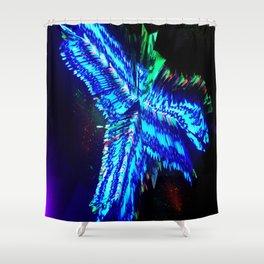 Entrapment Neon Shower Curtain