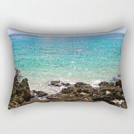 The Rocky Sea Shores of Cayman Island Rectangular Pillow