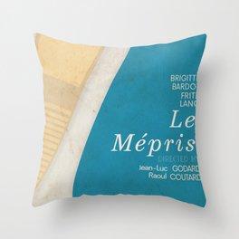 Contempt, Le Mépris, Jean-Luc Godard, Fritz Lang, Brigitte Bardot, french film, new wave, vague Throw Pillow