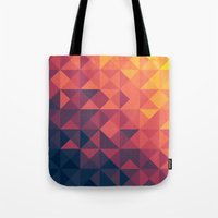 twilight Tote Bags featuring Infinity Twilight by Picomodi