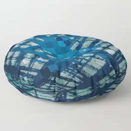 Floating Blue Sphere or Ovoid? Floor Pillow