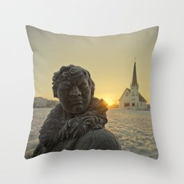 Sunrise in Nome, Alaska Throw Pillow
