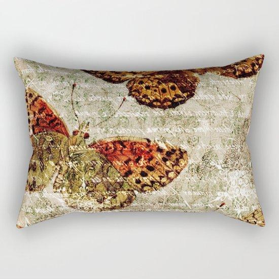 Vintage Butterflies 01 Rectangular Pillow