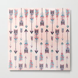 Patterned Arrows Metal Print