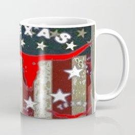 Grungy Old Looking Texas  Pride Longhorn Americana Coffee Mug