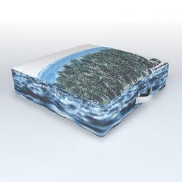 Calm Lake Sailboat Outdoor Floor Cushion