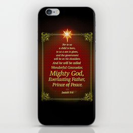 For to us a child is born . . . iPhone Skin
