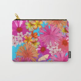 Spring Bouquet Blue Carry-All Pouch