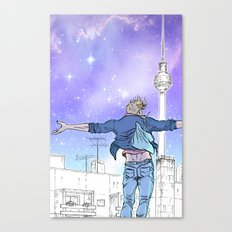 Until The Daylight - Berlin Comic - Piece 2 Canvas Print