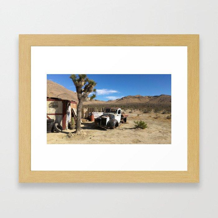 Deserted Desert Framed Art Print