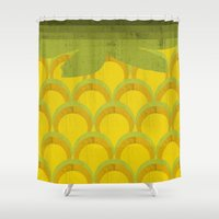pineapple Shower Curtains featuring Pineapple by Kakel