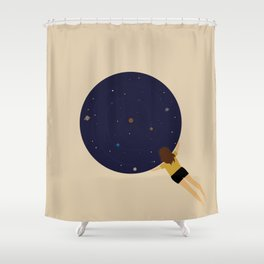 Universe Gazer Shower Curtain