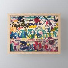 Urban Graffiti Paper Street Art Framed Mini Art Print