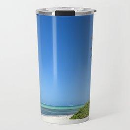 Crystal Clear Day on the Beach Travel Mug