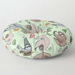 Sloth Party Floor Pillow