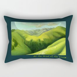 Mustering at the End of the Farm Rectangular Pillow