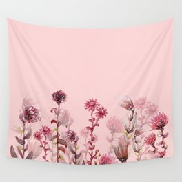 For Her ! Pink Flowers Wall Tapestry