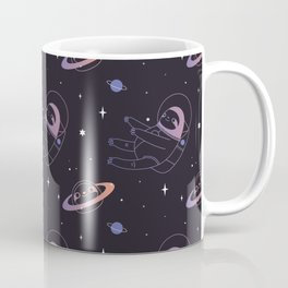 Astro sloth and planet sloth pattern Coffee Mug