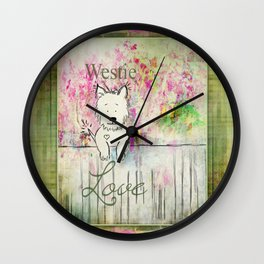 Westie Love ~ West Highland Terrier Wall Clock