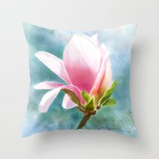 A Spring Feeling Throw Pillow