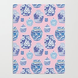 Chinoiserie Ginger Jar Collection No.7 Poster