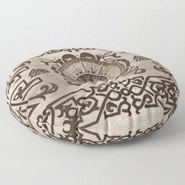 Vegvisir - Viking Compass Ornament #3 Floor Pillow
