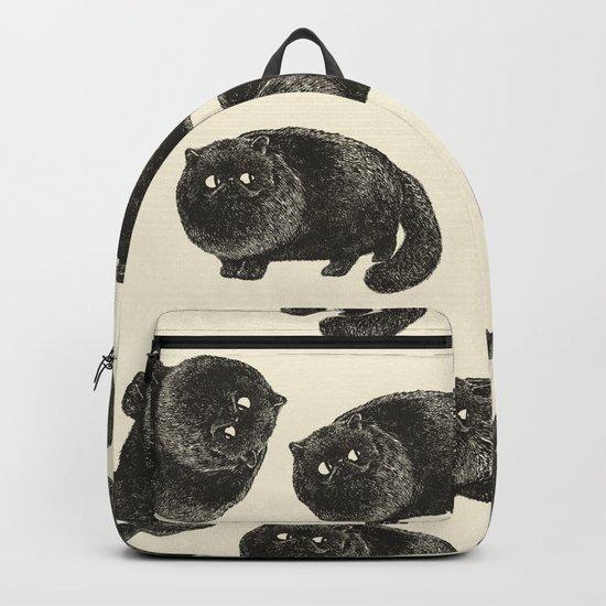 Black Persian Cat Backpack