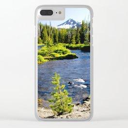 Greenlake trailhead V Clear iPhone Case