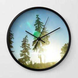 Northwestern Sunsets Wall Clock