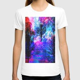 NEBULA TREES FANTASY OCEAN DREAMS T-shirt