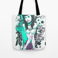 day of the dead Tote Bags featuring Day of the dead by Tshirt-Factory