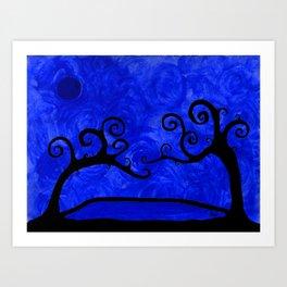 A Blue Night Art Print