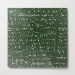 Geek math or economic pattern Metal Print