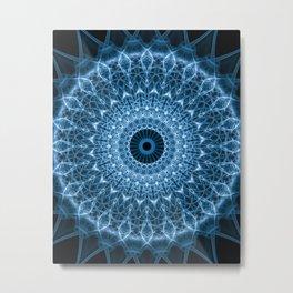 Bright blue mandala Metal Print