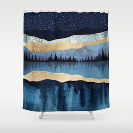 Midnight Lake Shower Curtain
