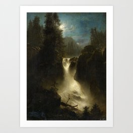 Waterfall in the Italian Countryside by Oswald Achenbach Art Print