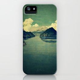 Distant Blues iPhone Case