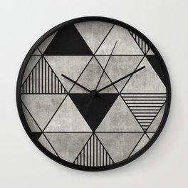 Concrete Triangles 2 Wall Clock