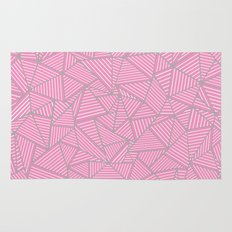 Ab Out Double Pink and Grey Rug